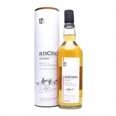 AnCnoc 12 Years Old Single Malt Highland Whiskey, 0,7 l