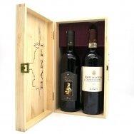 Banfi Chianti ir Chianti Alle Selva (wood box), 2 x 0,75 l