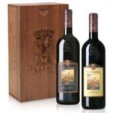 Brunello di Montalcino ir Rosso di Montalcino (wood box), 2 x 0,75 l