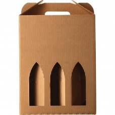 Kartoninė dėžutė 3 buteliams