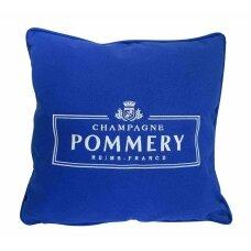 Pommery mėlyna dekoratyvinė pagalvėlė 40x40cm